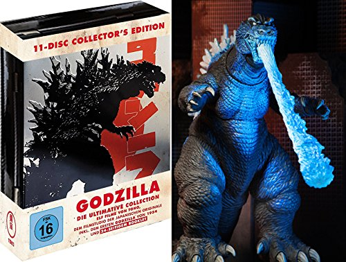 Godzilla 11 Disc - Ultimative Toho Collection Metallbox + Atomic Blast Figur 18cm Blu-Ray Limited Edition (Godzilla Collection Blu-ray)