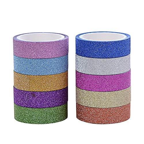 hangnuo-10-rolls-mix-colors-bling-decorative-washi-tape-diy-sticker-by-hangnuo
