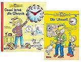 Carlsen Verlag GmbH Conni lernt die Uhrzeit (Conni-Bilderbücher) Pappbilderbuch und Die Uhrzeit Lernheft