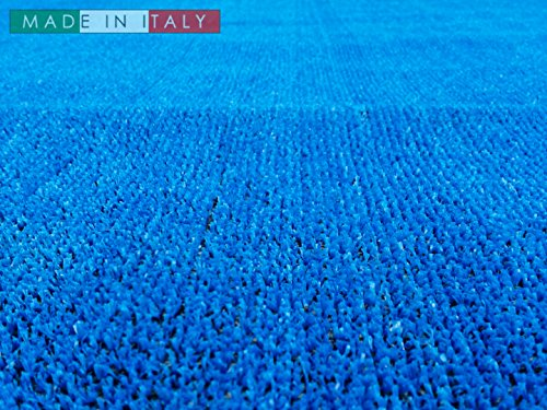Erba sintetica - blu 02 - spessore 7 mm - larghezza 200cm - lunghezza al metro