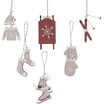 Khevga 9x Christbaumschmuck Schaukelpferd Weihnachtsschmuck Set