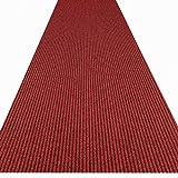 havatex Küchenteppich/Küchenmatte / Teppichläufer Event schadstoffgeprüft | pflegeleicht strapazierfähig schmutzabweisend | Küche Flur Büro Eingang Diele, Farbe:Rot, Größe:100 x 200 cm