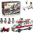 Enlighten 1118 building bricks ambulance treatment box set 328 Pcs + 4 mini figures
