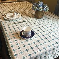 SODRE-cotone e lino-tovaglia Plaid colore solido,spazio