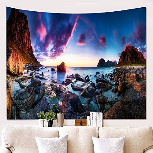 YEARGER WandTapisserie Sonnenuntergang Naturlandschaft Hausdekorationen wandteppich Zum Wohnzimmer Schlafzimmer Vorhänge, Tischdecken Dekor