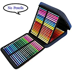 E-Bestar Astuccio per la scuola Pencil Case 120 Slots Astuccio per le matite Astuccio portapenne Custodia grande (Blu)