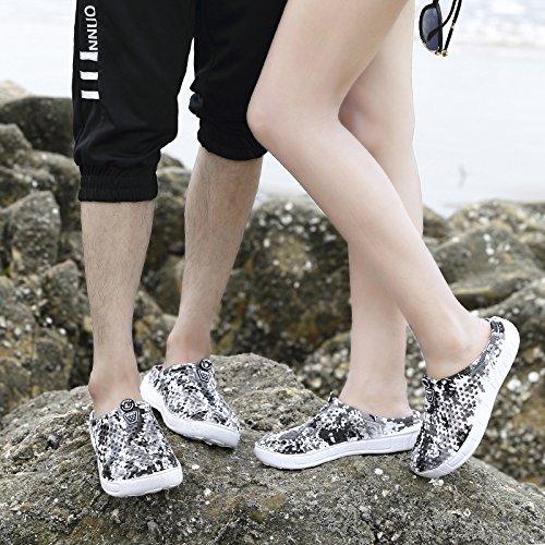 Xing Lin Beach Flip Flop I Pattini Con Foro Maschio Di Mezza Estate Pantofole Cava Traspirante Casual Scarpe Da Spiaggia Di Marea Coppie Ciabatte Sandali Uomini ZL-898 white ash