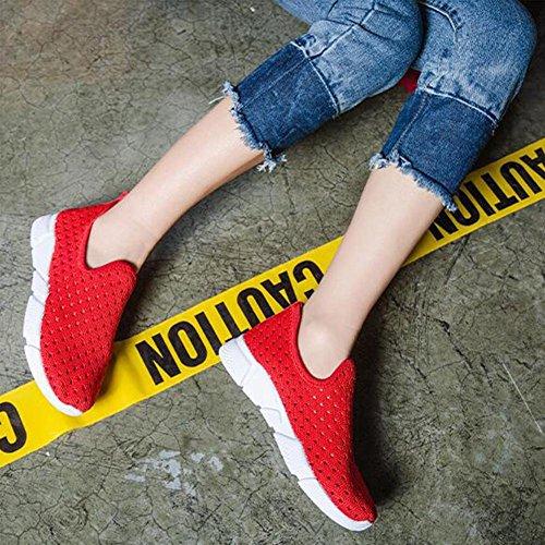 Scarpe a rete traspirante delle donne Sneaker di primavera ed estate Red