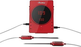 GrillEye GE0002Sonde Professionnelle de Cuisine, en Aluminium - Rouge Thermomètre Rouge