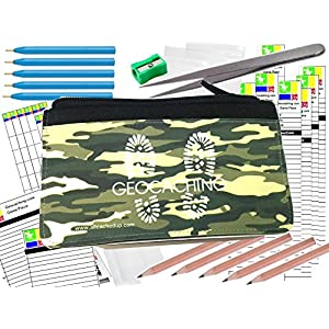 610pLv6kh8L. SS300  - Geocaching Essentials Kit with Log Sheets, Books, Bags, Pens, Pencils & Tweezers