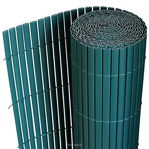[neu.haus] PVC Sichtschutzmatte (150x300cm) (grün) Sichtschutz / Windschutz / Gartenzaun / Balkon Umspannung / Zaun