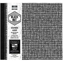 """Salida de la primera edición negro bloc de papel, papel, negro/blanco, 8x8"""" Scrapbook Album"""
