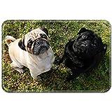Violetpos Fußmatte Mops Hund Schauen Sky Fußmatten Mat für Innen & Außen 45 x 75 cm