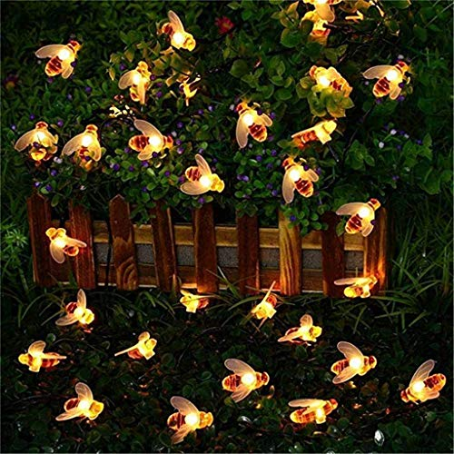 Fernbedienung Solarbetriebene Lichter Bee Lights 8 Modi Wasserdicht Fur Outdoor dekorative Lichter, Gartenleuchten, Weihnachten, Hochzeit, Halloween Dekoration (Mehrfarbig) ()