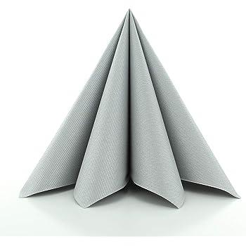servietten pomp silber wei tischdeko hochzeitsdeko servietten falten 50stk 40x40cm. Black Bedroom Furniture Sets. Home Design Ideas