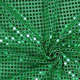 Fabulous Fabrics Paillettenjersey 6mm grasgrün — Meterware ab 0,5m — zum Nähen von Karnevalsartikeln und Accessoires