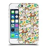 Offizielle Micklyn Le Feuvre Meerschweinchen Und Gänseblümchen Und Aquarell Rosa Muster 2 Soft Gel Hülle für Apple iPhone 5 / 5s / SE
