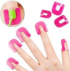 LQZ Nail Art Beauty 10 Sizes 26Pcs Glue Model Spill Proof Manicure Protector Tools Make Your Finger More Perfect Nail Polish Glue Model