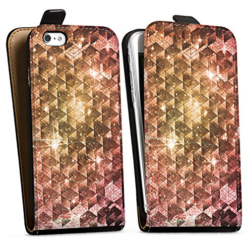 Apple iPhone X Silikon Hülle Case Schutzhülle Galaxie Universum Muster Downflip Tasche schwarz