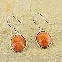 D? Ohrringe Oval Naturstein und Silber 925–Calcit orange preisvergleich bei billige-tabletten.eu