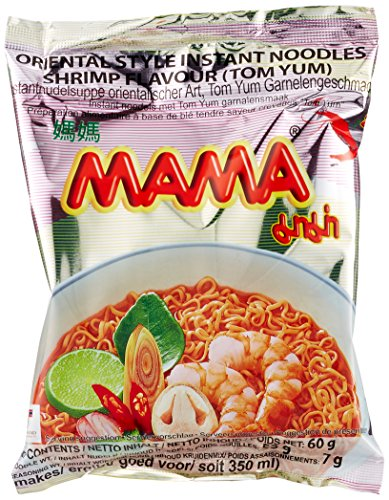 Mama Instantnudeln, Shrimps Tom Yum, 24er Pack (24 x 60 g) -