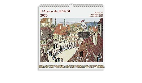 Calendrier 2019 illustré dessin alsace de Hansi 19,5x19,5cm Editor