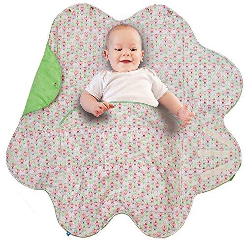 8d557e74925b7a Wallaboo Babynomade Couverture enveloppante Heart Couverture pour Bébé,  Pratique et élegante, Daim microfibre extra