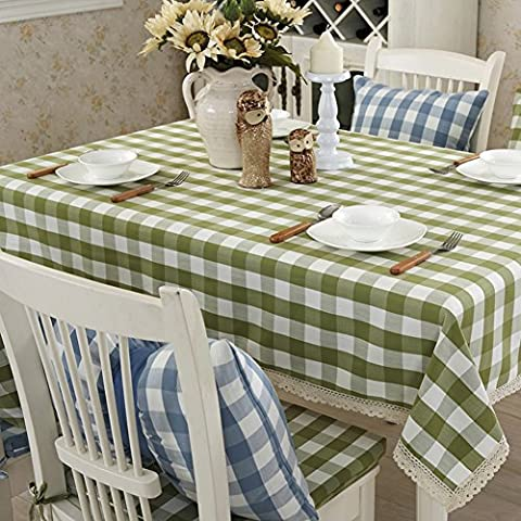 Leper Clean Rectangular Tablecloth Fabric Cotton Garden Table-Cloth, Modern Simple Table Cloth-A