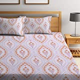 Bombay Dyeing Cynthia 120 TC Polycotton Double Bedsheet with 2 Pillow Covers - Lavander