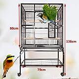 Ridgeyard Großer Vogel Papageienkäfig Haus Playtop Cage Perches mit beweglicher Räder stehen - 8