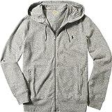Polo Ralph Lauren Herren Cardigan Jacke Uni & Uninah, Größe: L, Farbe: Grau