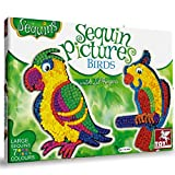 #4: Toykraft 39592 Sequin Pictures - Birds, Multi Color