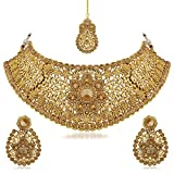 Palash Golden Color Alloy Necklace Set For Women(PNZ02N2TSS) best price on Amazon @ Rs. 875