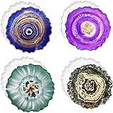 Shalwinn Set van 4 siliconen vormen, epoxyhars, set van 4 stuks, voor grote hars en hars
