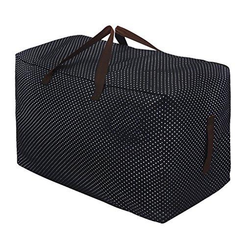 Super große Aufbewahrungstasche 600D Oxford Tragetasche mit Handgriff Wasserdichte Aufbewahrungsbeutel für Bettzeug Decken Kissen und Kleidung (Kiste Decke)