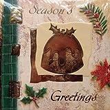 20 'Navidad' a la chimenea de lujo, con sobres, 4 diseños (budín, depilatorio, acebo, muérdago)