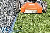 HN Kernstützen Metallwaren Rasenkante mit Radlauf Metall 120x9,5cm 15er Set Mähkante Beeteinfassung Beetumrandung (17,07m)