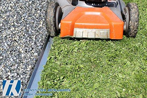 HN Kernstützen Metallwaren Rasenkante mit Radlauf Metall 120×9,5cm 5er Set Mähkante Beeteinfassung Beetumrandung (5,72m)