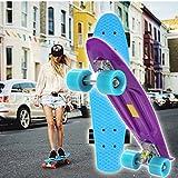 Ancheer-Mini-Cruiser-Skateboard Eine große Vielfalt von Farbe der Platten und Rädern 22 Zoll Kunststoff-Board im Retro-Stil -