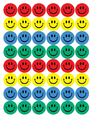 Eureka Back to School Classroom Supplies Large Smiley Face Stickerbuch, 192 Stück