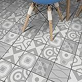 JY ART ZYX Fliesenaufkleber Dekorative Wandgestaltung mit Fliesenaufklebern für Küche und Bad, Deko-Fliesenfolie für Küche u. Grau Dekoration CZ065, 20cm*100cm*5pcs