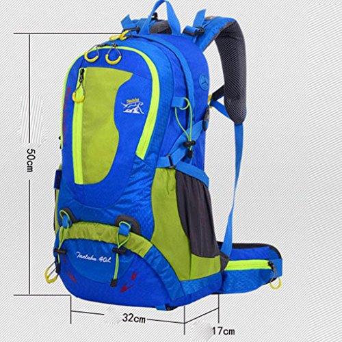 borsa a tracolla genuino grande viaggio capienza con lo zaino di viaggio supporto svago uomini e donne di sport all'aria aperta alpinismo borse 40L arancione