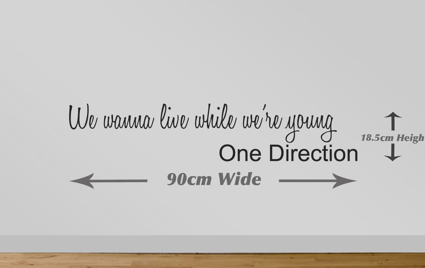 Juko One Direction Live While Were Young Wall Sticker Quote 25 ? We Wanna  Live While Weu0027re Young 90cm Wide Black: Amazon.co.uk: Kitchen U0026 Home Part 24