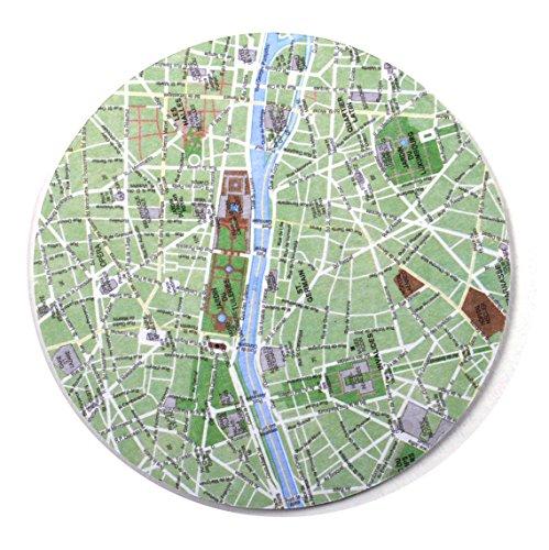 Paris Map - Map Coasters Paris Coaster