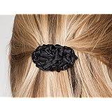 Fermaglio per capelli di stoffa color nero, fermacapelli, accessore per capelli, french barrette