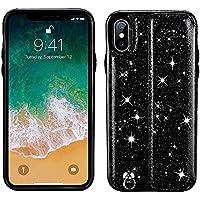 Kucosy Purpurina Teléfono Móvil para iPhone X, Parte Trasera Funda Case para iPhone X