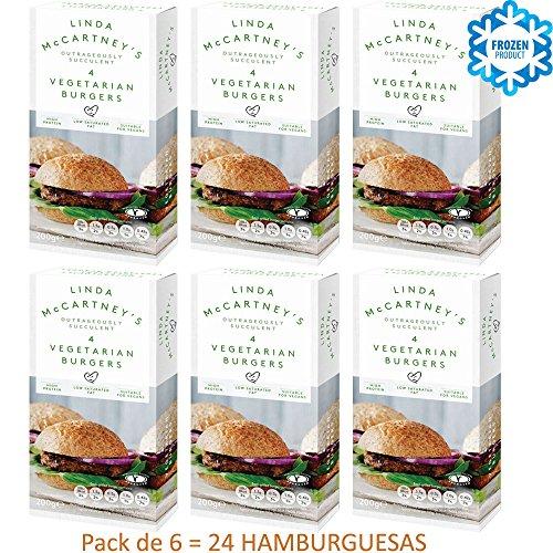 LINDA McCARTNEY Hamburguesas Vegetarianas 200GR Congelado VEGANO Pack de 6