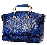 GSHGA Handtaschen Schulter Mobile Brauttasche Klassischen Chinesischen Stil Muster Umhängetasche,Blue