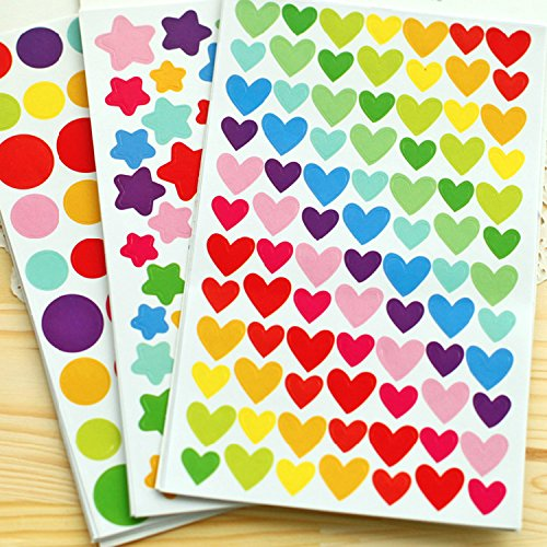 PuTwo Stickers Pack of 1200 Reward Stickers Craft Stickers Coding Label for Scrapbook – 18 Sheets Test