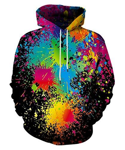 EOWJEED Galaxy Hoodie Pullover Langarm Pullover Für Liebhaber Groß (Licht Blau Mädchen T-shirt)